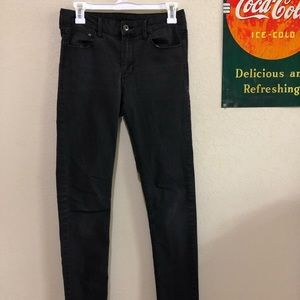 Grey Mid-Waist Skinny Jeans